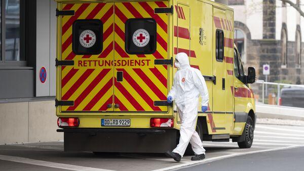 Xe cứu thương ở Dresden, Đức. - Sputnik Việt Nam