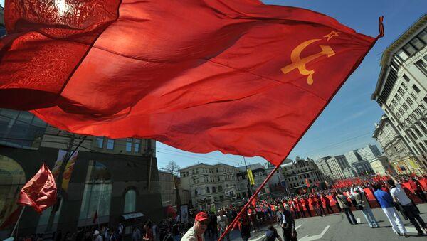Lễ rước và mít tinh nhân kỷ niệm 68 năm Chiến thắng vĩ đại của Liên Xô - Sputnik Việt Nam
