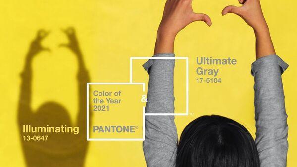 Hai màu chủ đạo của năm 2021 - màu xám đậm (Pantone 17-5104 Ultimate Grey) và màu vàng tươi (Pantone 13-0647 Illuminating) - Sputnik Việt Nam