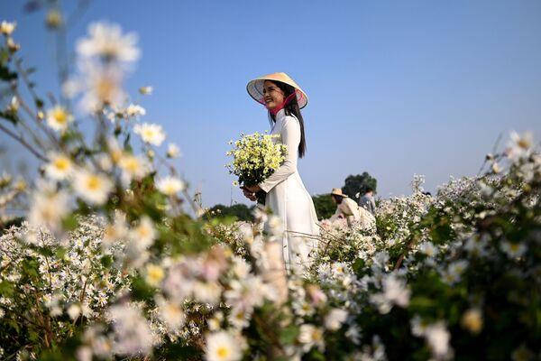 Cô gái chụp ảnh trong vườn bách thảo ở Hà Nội - Sputnik Việt Nam