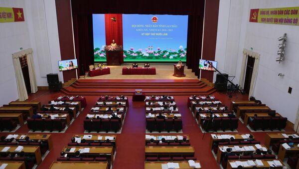 Quang cảnh Kỳ họp thứ 15 Hội đồng nhân dân tỉnh Lai Châu khóa XIV, nhiệm kỳ 2016-2021 - Sputnik Việt Nam
