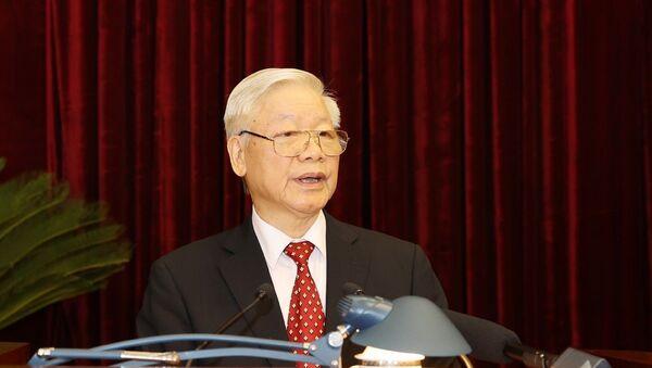 Tổng Bí thư, Chủ tịch nước Nguyễn Phú Trọng phát biểu khai mạc Hội nghị. - Sputnik Việt Nam