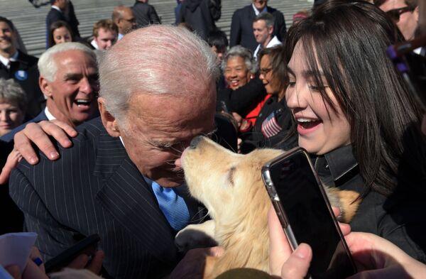 Cựu Phó Tổng thống Joe Biden với chú chó ở Washington, 2017 - Sputnik Việt Nam