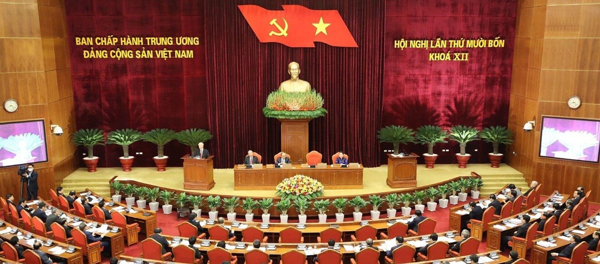 Toàn cảnh Tổng Bí thư, Chủ tịch nước Nguyễn Phú Trọng phát biểu khai mạc Hội nghị. - Sputnik Việt Nam, 1920, 17.12.2020