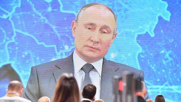 Сuộc họp báo lớn сủa Tổng thống Nga Vladimir Putin - Sputnik Việt Nam