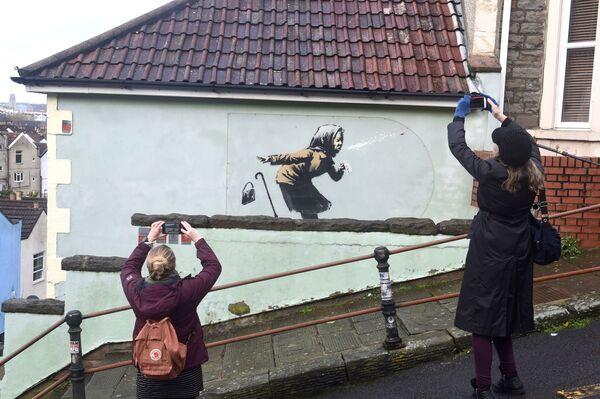 Tác phẩm graffiti mới của hoạ sĩ Banksy - Sputnik Việt Nam