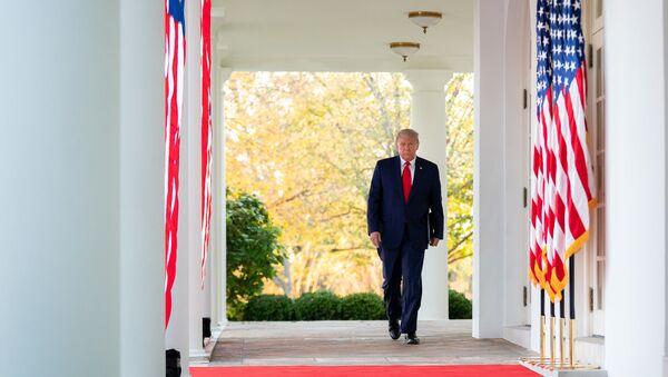 Tổng thống Donald Trump tại Nhà Trắng ở Washington, Mỹ - Sputnik Việt Nam