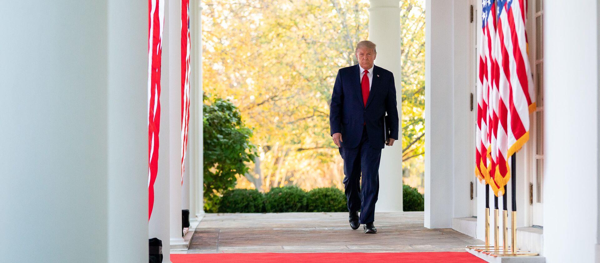 Tổng thống Donald Trump tại Nhà Trắng ở Washington, Mỹ - Sputnik Việt Nam, 1920, 05.04.2021