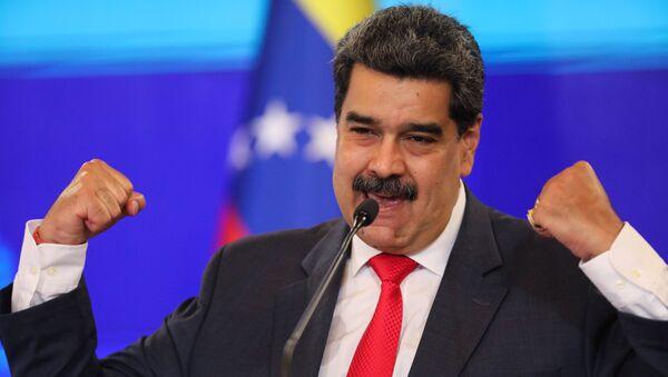 Tổng thống Venezuela Nicolas Maduro tổ chức họp báo ở Caracas - Sputnik Việt Nam