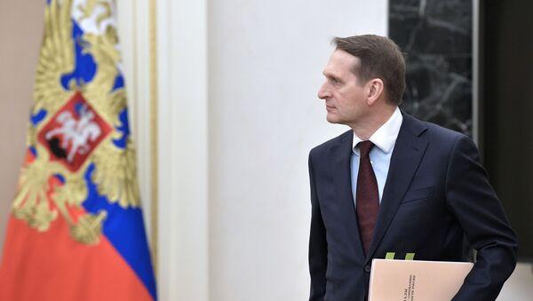 Giám đốc Cơ quan Tình báo Đối ngoại Nga Sergei Naryshkin. - Sputnik Việt Nam