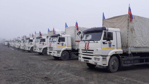 Viện trợ nhân đạo từ Nga tại thành phố Barda. - Sputnik Việt Nam