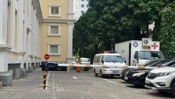 Lực lực công an có mặt tại hiện trường, để điều tra làm rõ. - Sputnik Việt Nam