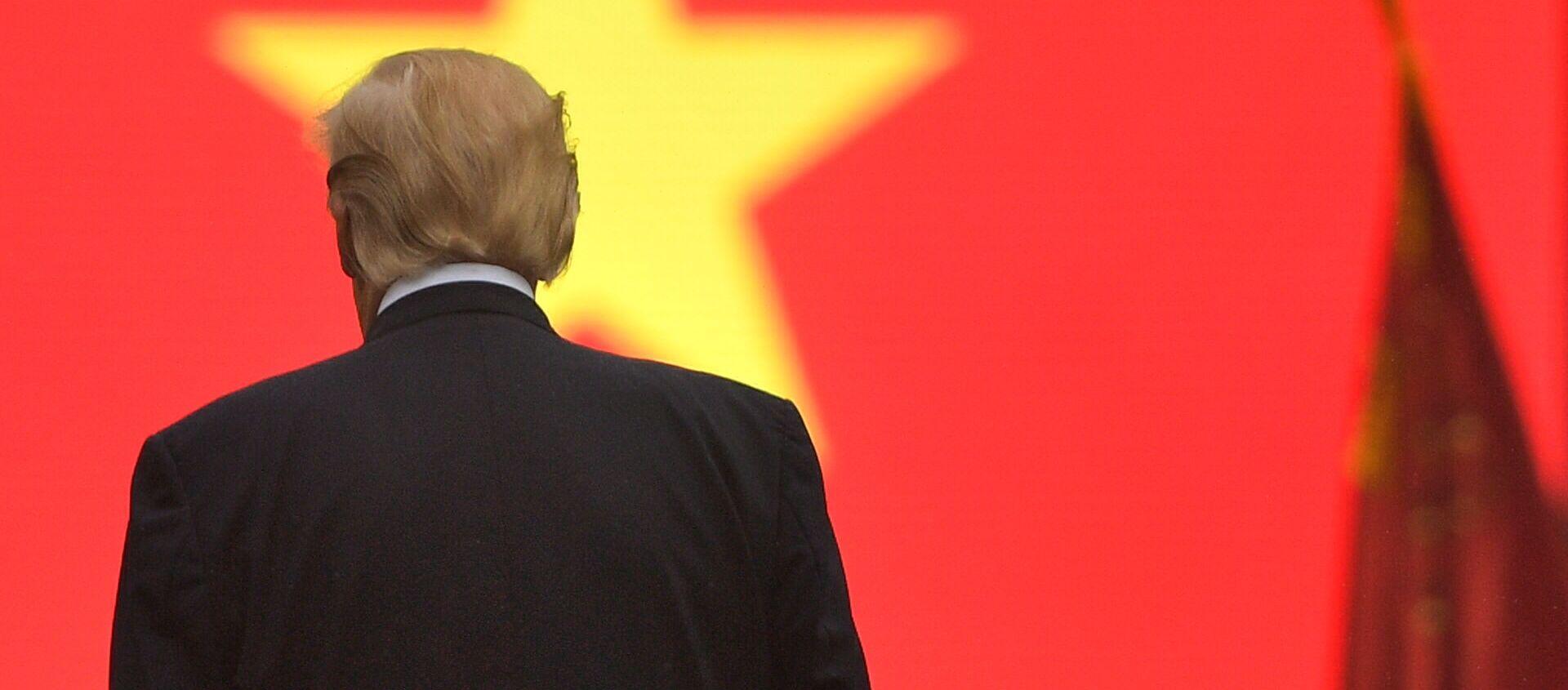 Tổng thống Mỹ Donald Trump trước quốc kỳ Việt Nam - Sputnik Việt Nam, 1920, 22.12.2020