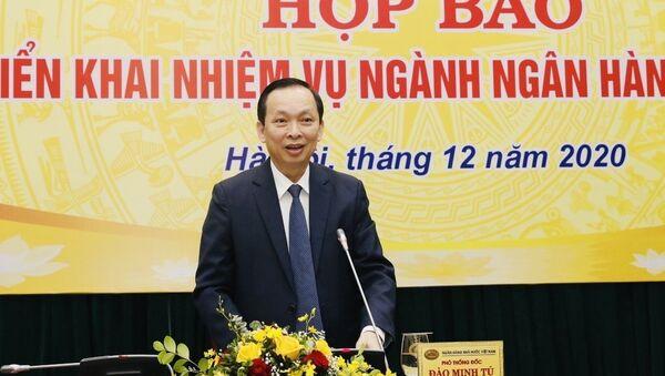 Phó Thống đốc NHNN Việt Nam Đào Minh Tú báo cáo hoạt động năm 2019 và nhiệm vụ năm 2020. - Sputnik Việt Nam