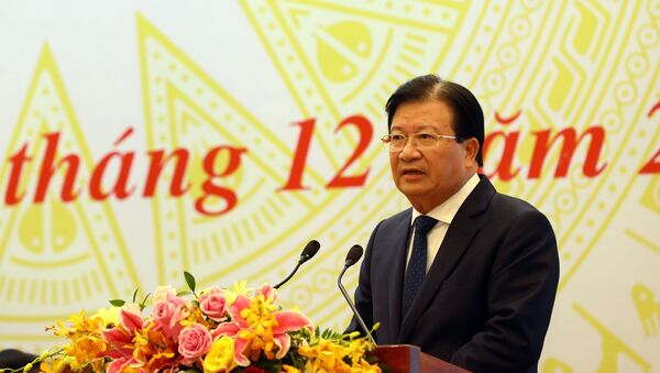 Phó Thủ tướng Trịnh Đình Dũng phát biểu chỉ đạo. - Sputnik Việt Nam
