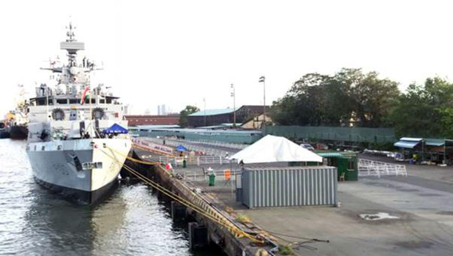 Tàu chiến Ấn Độ Kiltan cập cảng Nhà Rồng, Thành phố Hồ Chí Minh ngày 24 tháng 12 năm 2020 trong khuôn khổ sứ mệnh Sagar-III. - Sputnik Việt Nam, 1920, 09.03.2021