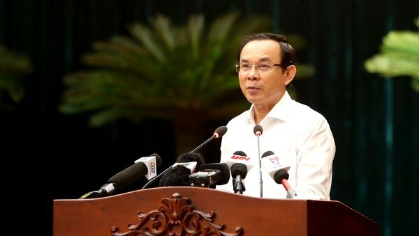 Bí thư Thành ủy Thành phố Hồ Chí Minh Nguyễn Văn Nên phát biểu chỉ đạo tại hội nghị - Sputnik Việt Nam