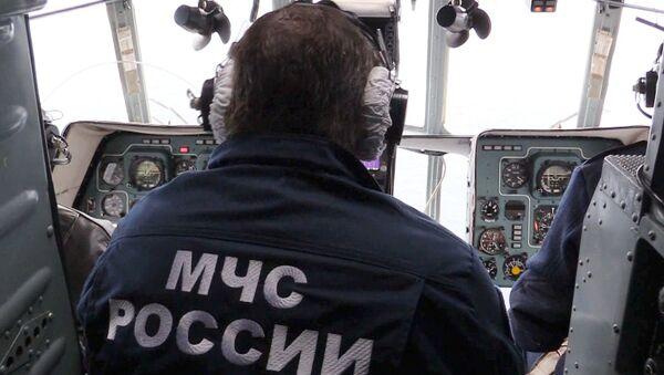 Hoạt động tìm kiếm và cứu nạn của Bộ Tình trạng khẩn cấp Nga tại địa điểm tàu đắm - Sputnik Việt Nam