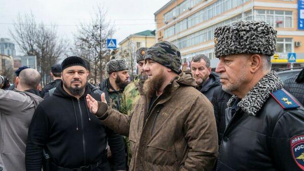 Người đứng đầu Chechnya, ông Ramzan Kadyrov đã đến hiện trường - Sputnik Việt Nam