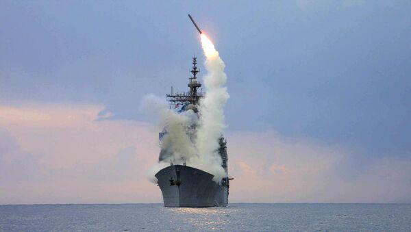 Phóng tên lửa Tomahawk từ tàu USS Cape St. George - Sputnik Việt Nam