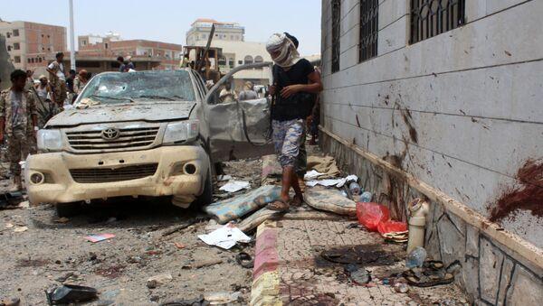 Địa điểm vụ nổ ở Aden, Yemen. - Sputnik Việt Nam