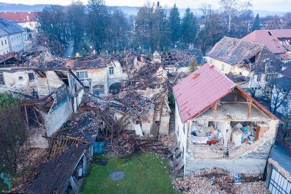 Những tòa nhà hư hại sau trận động đất ở Croatia - Sputnik Việt Nam