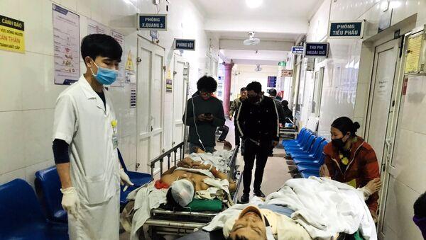 Các nạn nhân bị thương trong vụ tai nạn lao động đang được điều trị tại Bệnh viện Đa khoa 115 Nghệ An - Sputnik Việt Nam