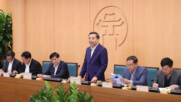 Chủ tịch UBND TP Hà Nội Chu Ngọc Anh phát biểu tại buổi làm việc - Sputnik Việt Nam