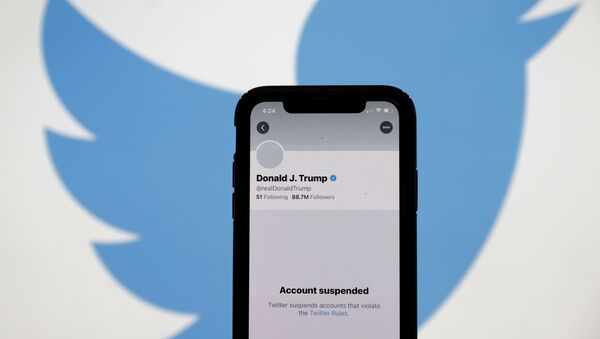 Tài khoản Twitter của Donald Trump bị chặn - Sputnik Việt Nam