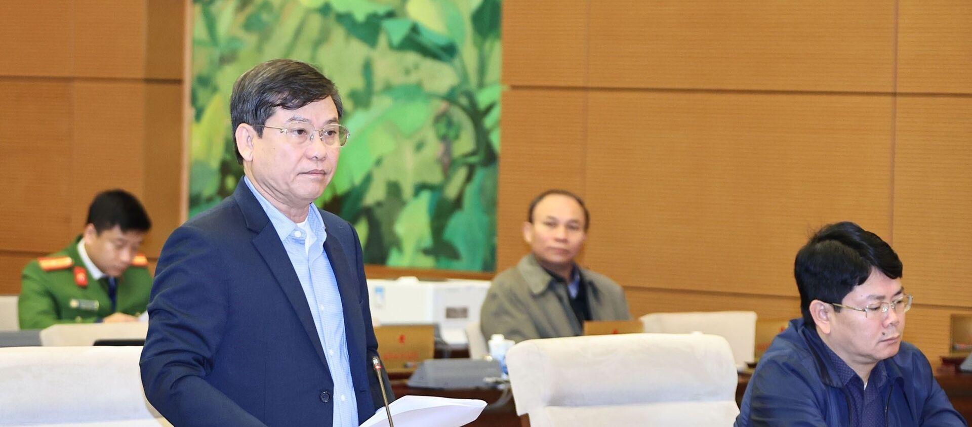 Viện trưởng Viện Kiểm sát nhân dân tối cao Lê Minh Trí trình bày báo cáo công tác. - Sputnik Việt Nam, 1920, 12.01.2021