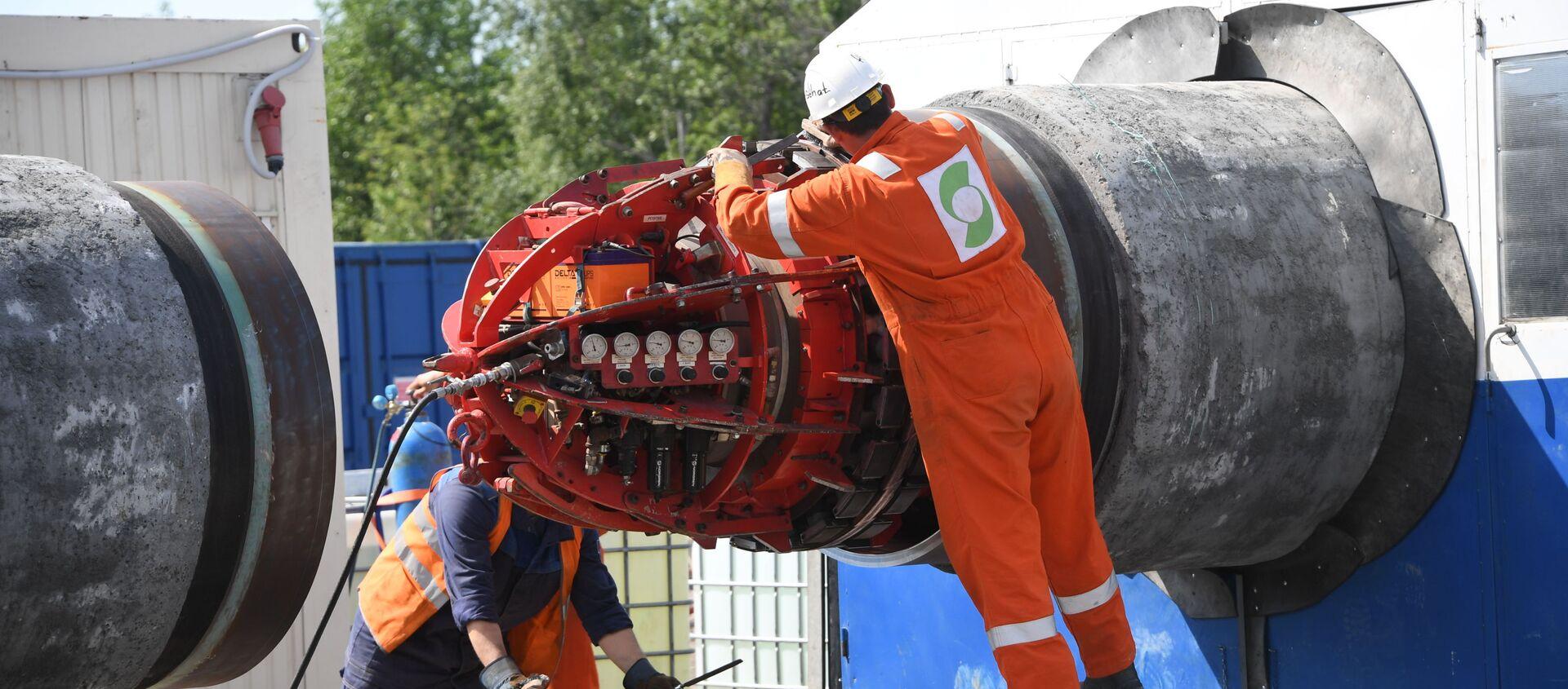 Việc xây dựng đường ống dẫn khí đốt Dòng chảy phương Bắc-2 - Sputnik Việt Nam, 1920, 01.09.2021