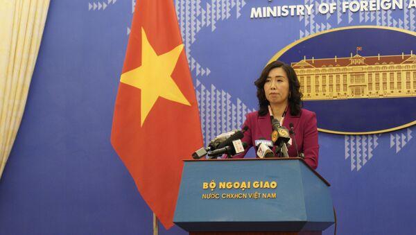 Người phát ngôn Bộ Ngoại giao Việt Nam Lê Thị Thu Hằng. - Sputnik Việt Nam