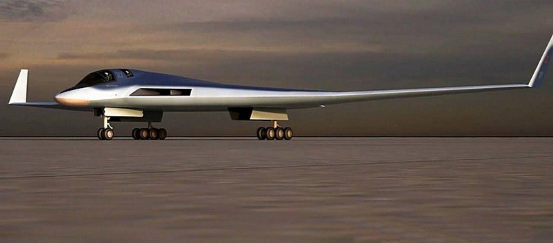 Phác thảo tổ hợp hàng không tầm xa đầy hứa hẹn (PAK DA hay còn gọi là Sản phẩm 80). - Sputnik Việt Nam, 1920, 15.01.2021