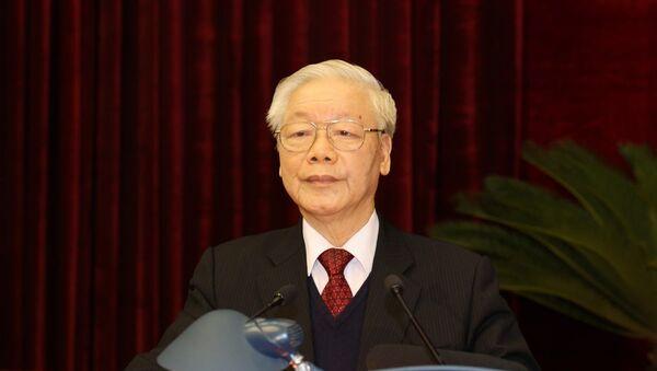 Tổng Bí thư, Chủ tịch nước Nguyễn Phú Trọng phát biểu bế mạc Hội nghị - Sputnik Việt Nam