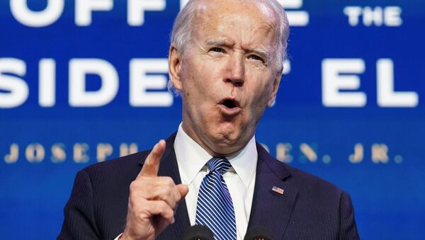 Tổng thống đắc cử Joe Biden phát biểu về bạo lực diễn ra tại Điện Capitol Hoa Kỳ, phát biểu ở Wilmington, Delaware, Hoa Kỳ - Sputnik Việt Nam