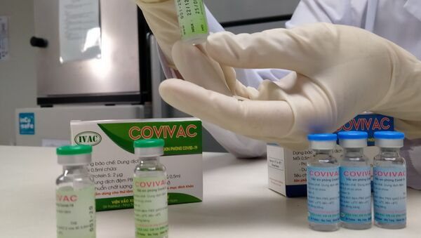 Đây là vaccine thứ 2 của Việt Nam được đưa vào thử nghiệm trên người, sau vaccine Nanocovax, của Công ty Nanogen thử nghiệm trên người giai đoạn một từ ngày 10/12/2020. - Sputnik Việt Nam