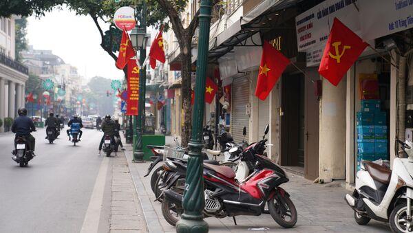 Trung tâm thành phố Hà Nội trước Đại hội Đảng Cộng sản Việt Nam lần thứ 13 - Sputnik Việt Nam