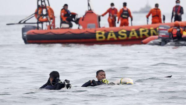 Hoạt động tìm kiếm và cứu nạn tại địa điểm rơi máy bay Boeing 737-500 ở biển Java - Sputnik Việt Nam