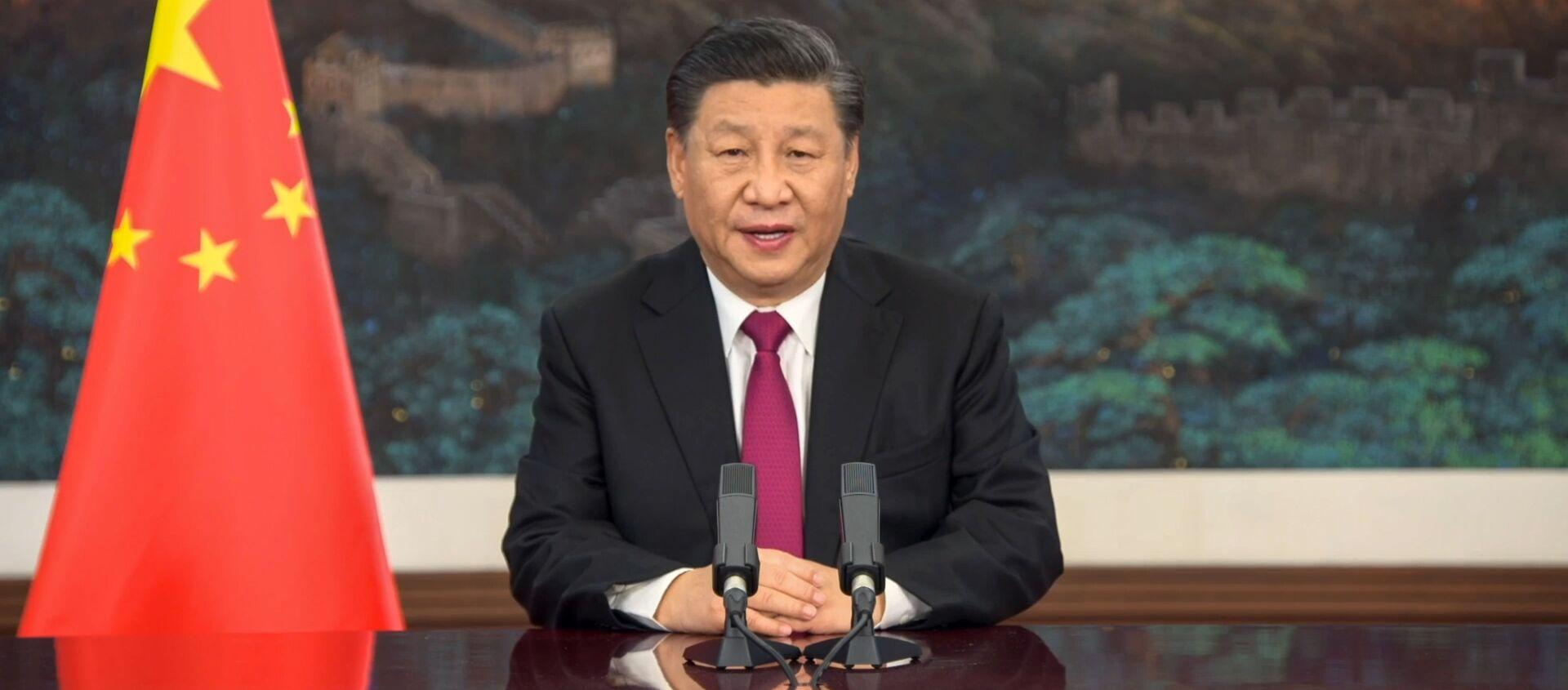 Chủ tịch Trung Quốc Tập Cận Bình phát biểu tại Diễn đàn Kinh tế Thế giới - Sputnik Việt Nam, 1920, 25.01.2021