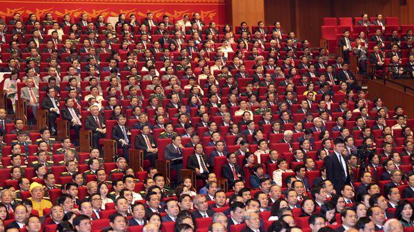 Các đại biểu trong lễ khai mạc Đại hội lần thứ XIII của Đảng Cộng sản Việt Nam tại Hà Nội - Sputnik Việt Nam