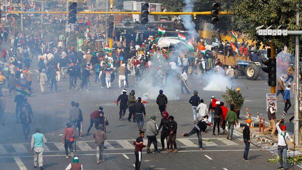 Nông dân biểu tình ở Ấn Độ - Sputnik Việt Nam