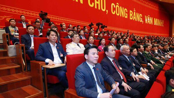Đoàn đại biểu Đảng bộ tỉnh Thanh Hoá tại Đại hội.  - Sputnik Việt Nam
