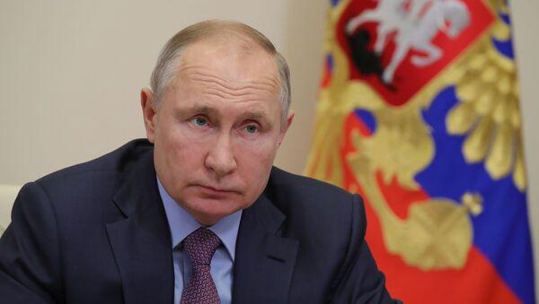 Tổng thống Nga V.Putin họp với các thành viên Chính phủ Nga - Sputnik Việt Nam