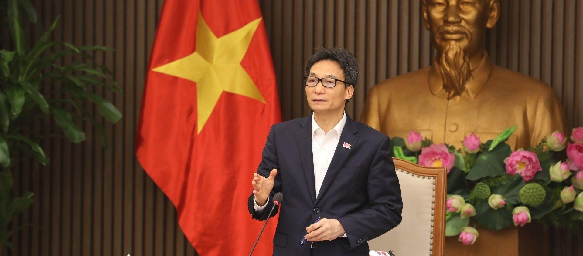 Phó Thủ tướng Vũ Đức Đam phát biểu chỉ đạo. - Sputnik Việt Nam, 1920, 02.04.2021