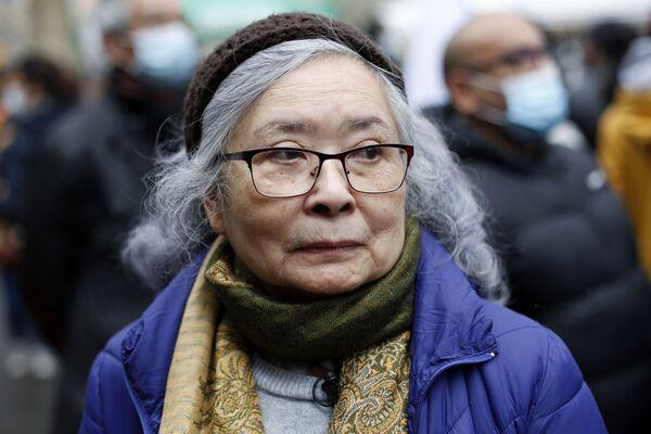 Bà Trần Tố Nga tại cuộc mít tinh ở Paris bày tỏ sự ủng hộ các nạn nhân của chất độc da cam trong chiến tranh Việt Nam - Sputnik Việt Nam