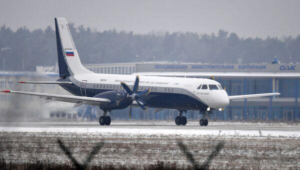 Máy bay IL-114-300 đã thực hiện chuyến bay đầu tiên trên sân bay của Viện Nghiên cứu bay (LII) mang tên M.M. Gromov ở khu vực Zhukovsky - Sputnik Việt Nam