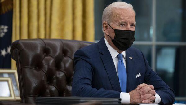 Tổng thống Hoa Kỳ Joe Biden tại Nhà Trắng. - Sputnik Việt Nam