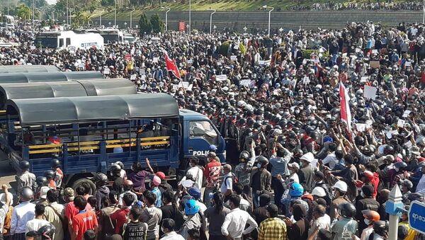 Cuộc biểu tình ở thủ đô Naypyidaw của Myanmar - Sputnik Việt Nam