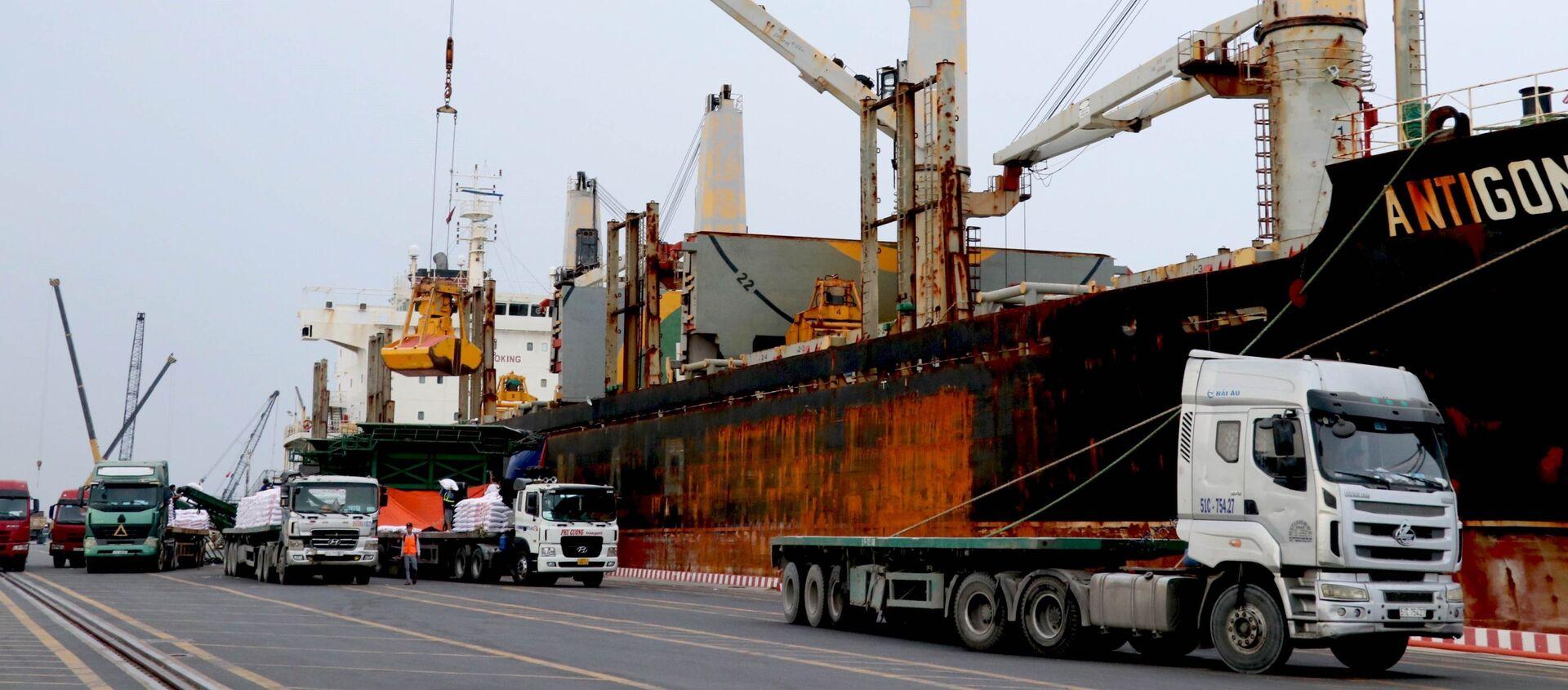 Việc Cảng quốc tế Long An được xây dựng và đi vào hoạt động góp phần giúp doanh nghiệp trong khu vực cắt giảm chi phí vận chuyển, thúc đẩy phát triển kinh tế xã hội của khu vực. - Sputnik Việt Nam, 1920, 08.02.2021