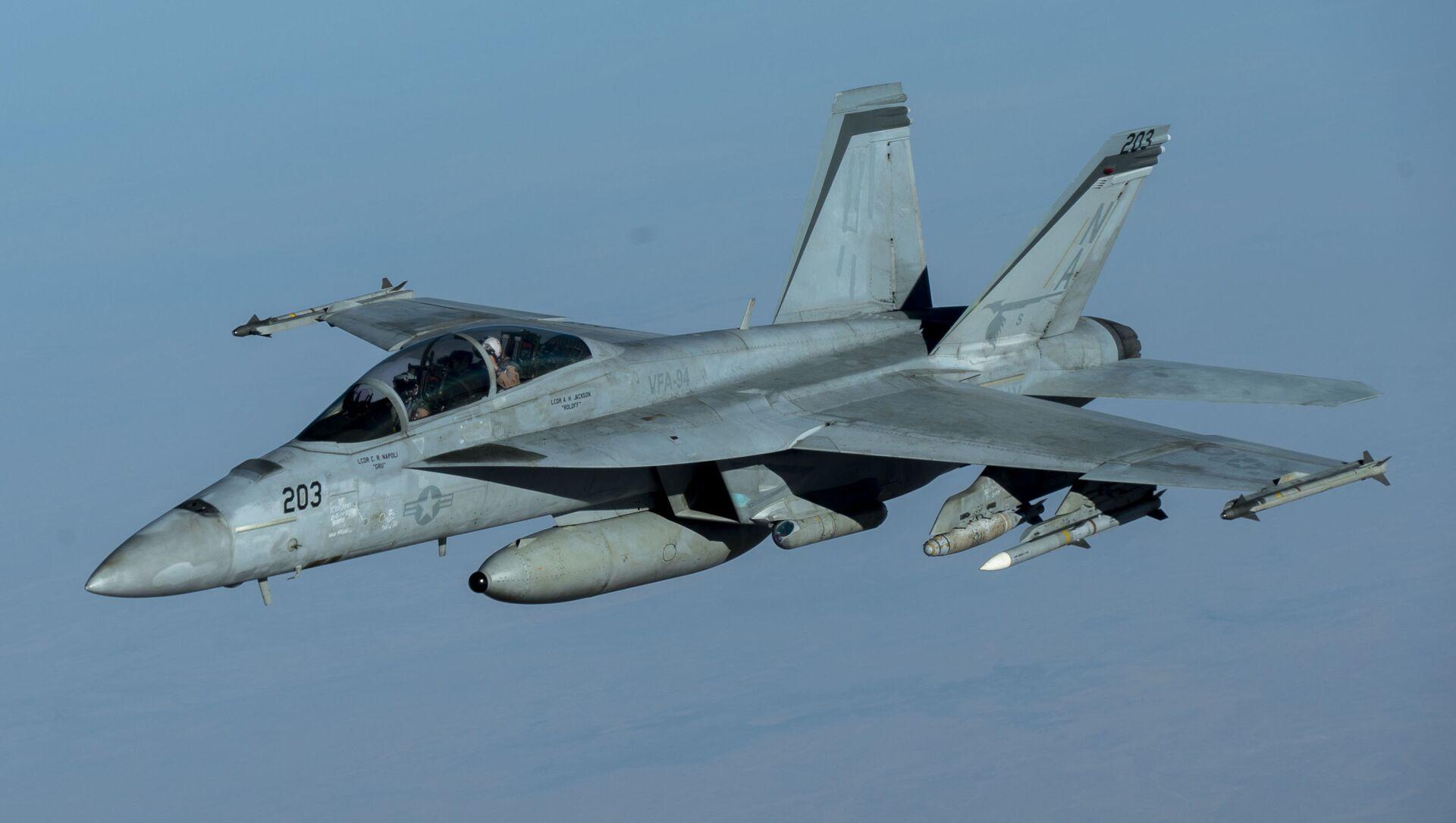 Máy bay chiến đấu F/A-18F Super Hornet của Không quân Mỹ - Sputnik Việt Nam, 1920, 05.07.2021